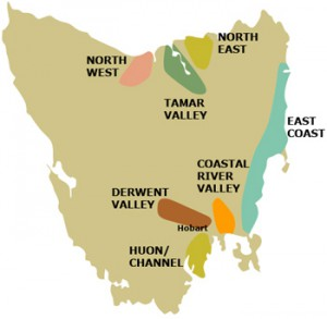 Tasmania Wine Map