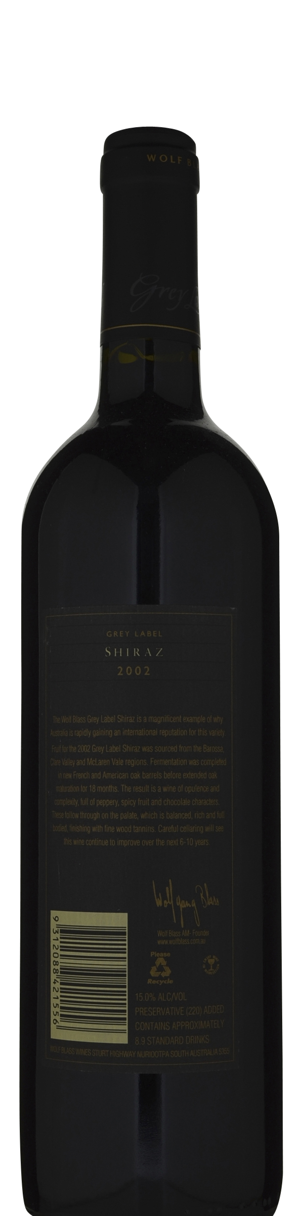 It is an image of Adaptable Wolf Blass Grey Label Shiraz 2013 Review