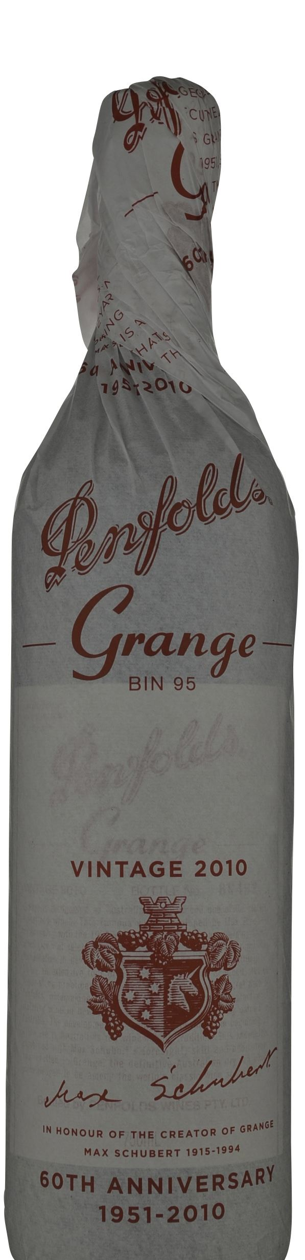 Penfolds Grange 2010 with 60th Anniversary Wrapper